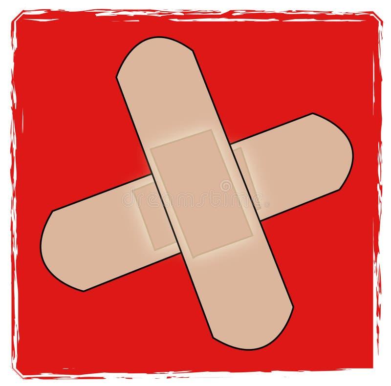 Símbolo dos primeiros socorros ilustração do vetor