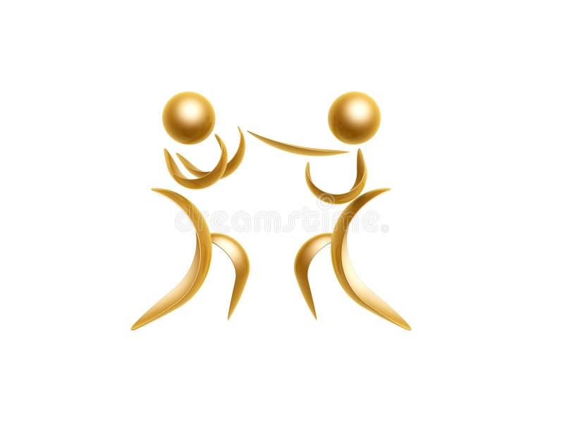Símbolo dourado dos esportes ilustração royalty free