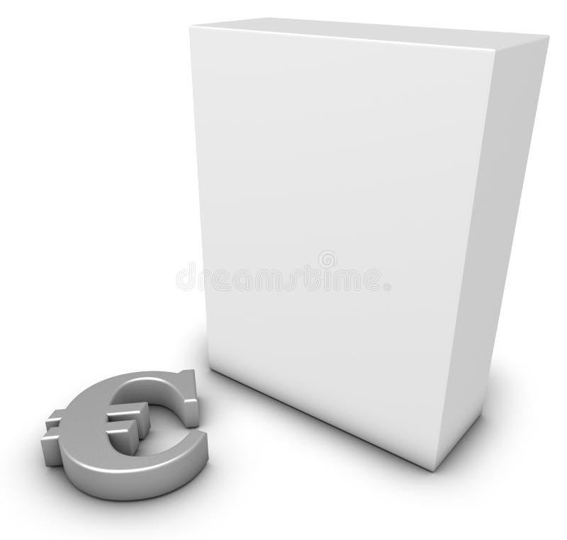 Símbolo e caixa do Euro ilustração stock