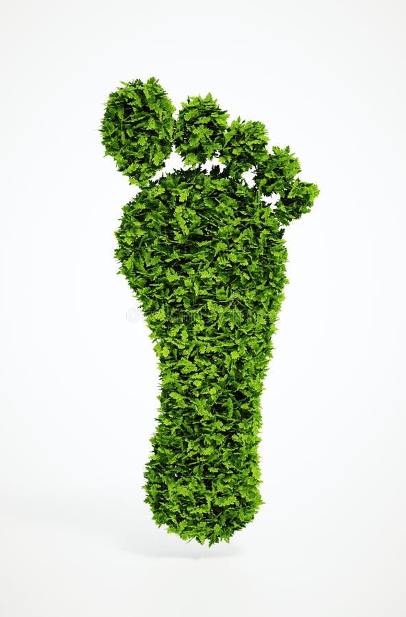 Símbolo ecológico da pegada ilustração do vetor
