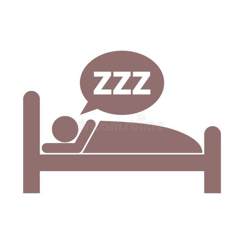 Símbolo el dormir stock de ilustración