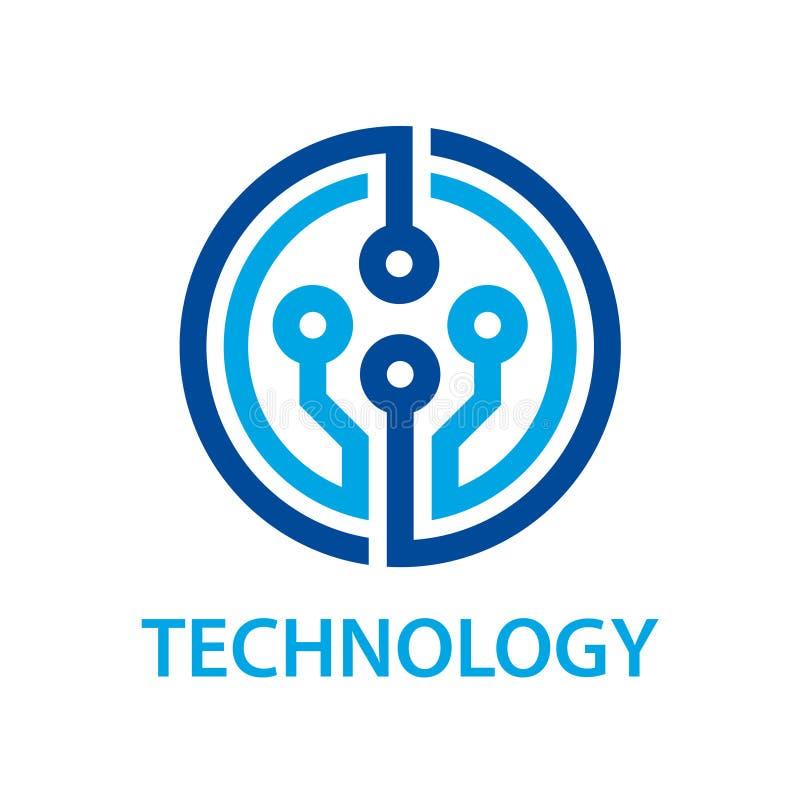 Símbolo electrónico de la tecnología de la placa de circuito stock de ilustración