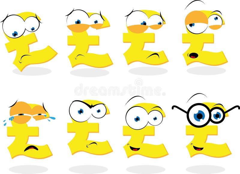 Download Símbolo engraçado da libra ilustração do vetor. Ilustração de gritar - 26514932