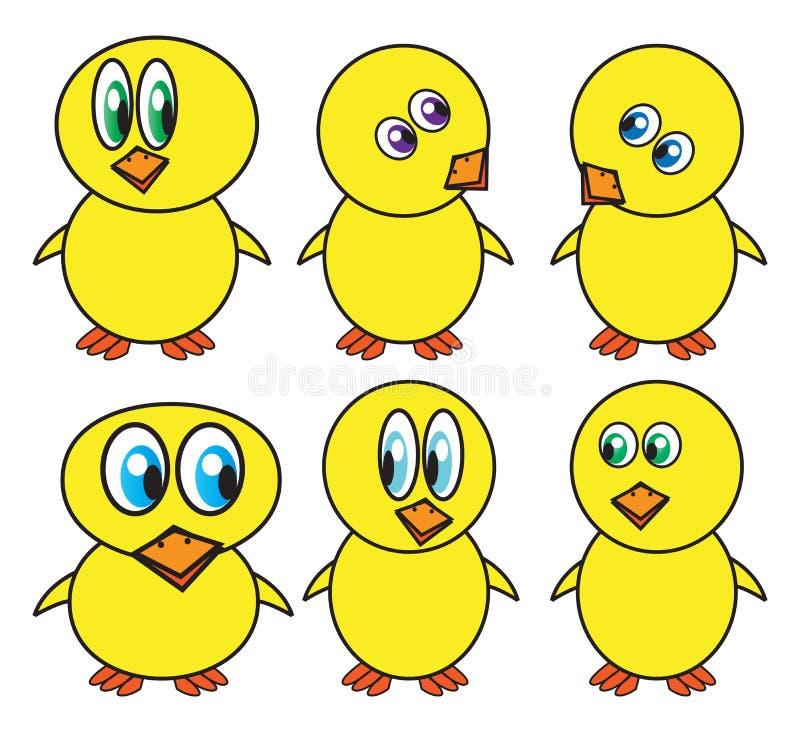 Símbolo engraçado do vetor da galinha da Páscoa, projeto do ícone Ilustração da mola isolada no fundo branco ilustração royalty free