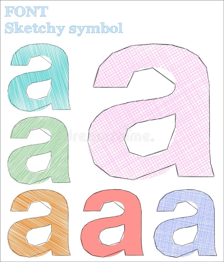 Símbolo esboçado da fonte ilustração do vetor