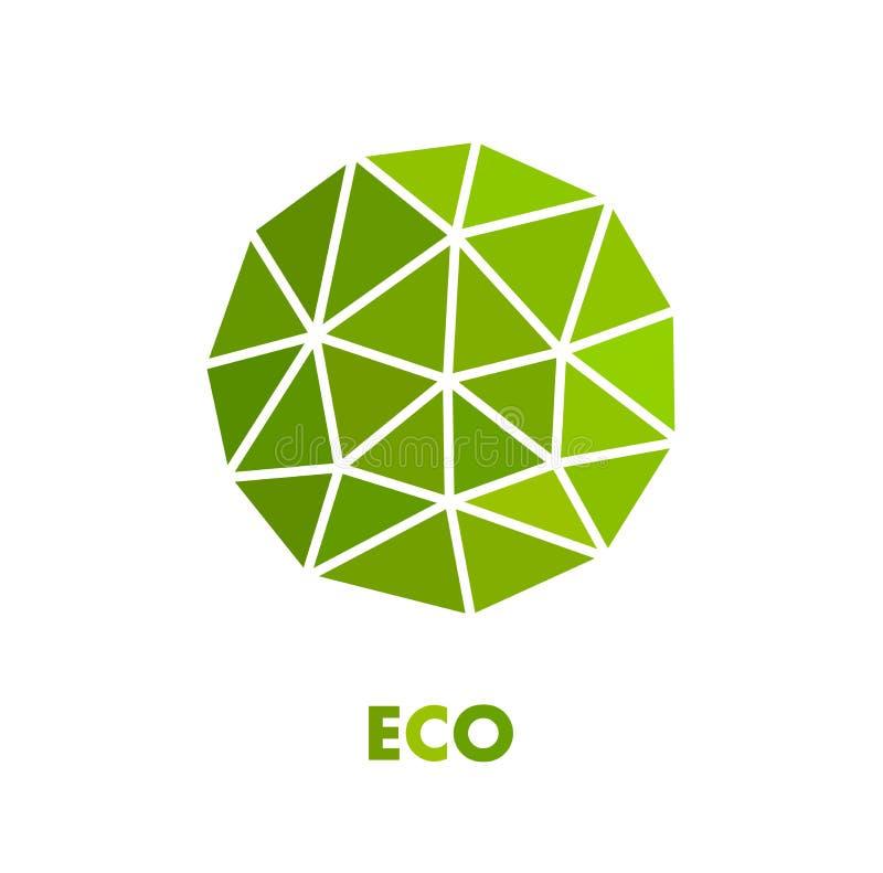Símbolo esférico verde do eco ilustração stock