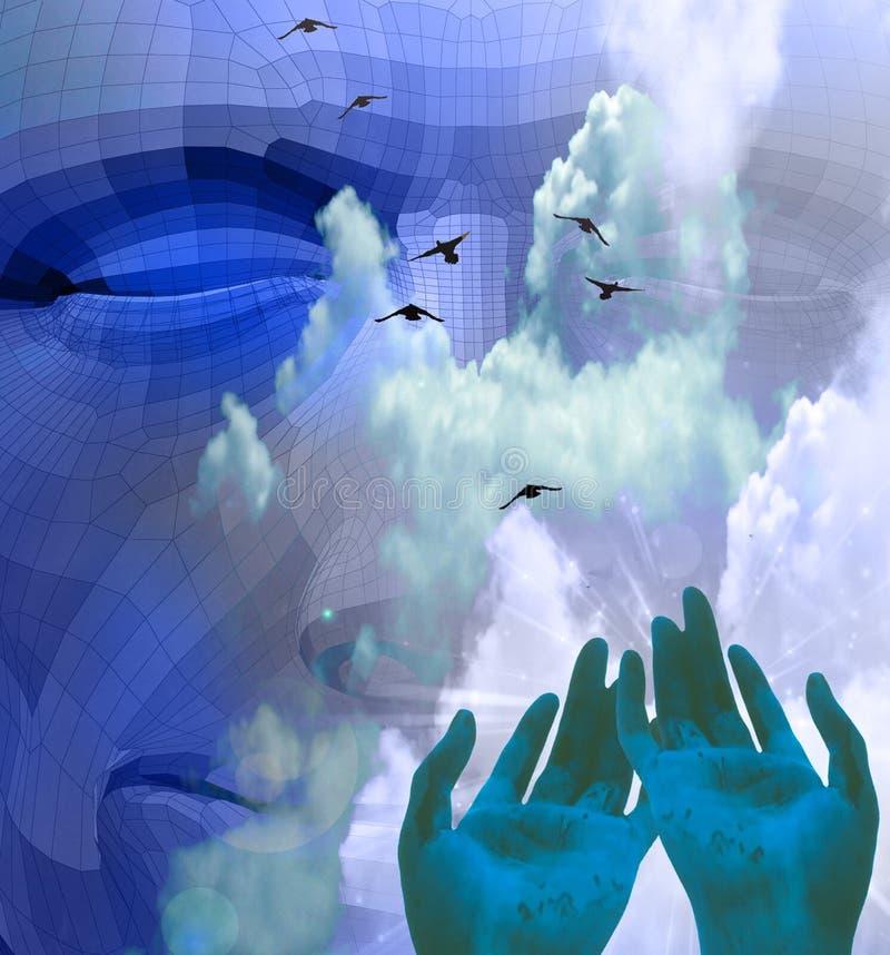 Símbolo espiritual da liberação ilustração stock