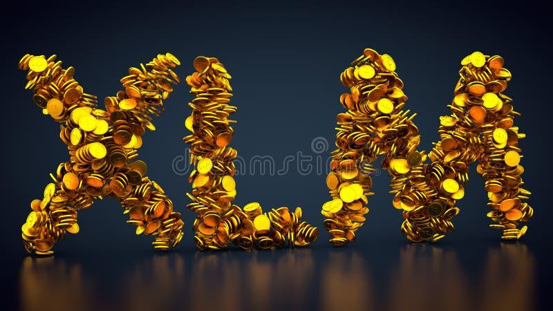 Símbolo estelar de los lúmenes de la moneda Crypto stock de ilustración