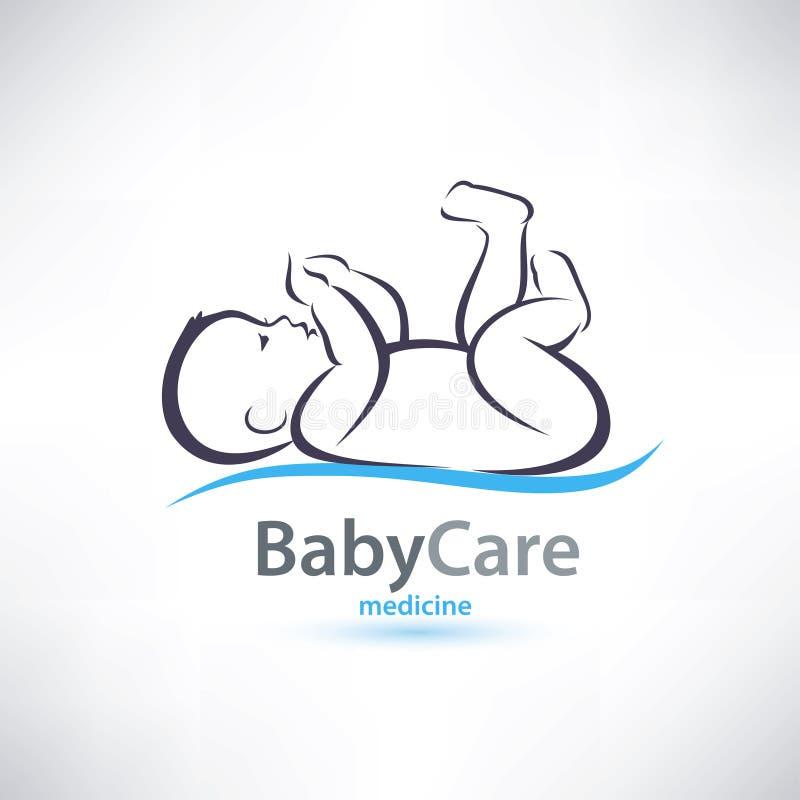 Símbolo estilizado do bebê ilustração stock