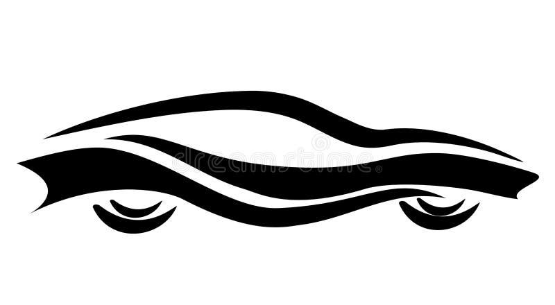 Símbolo estilizado do carro, tatuagem ilustração stock