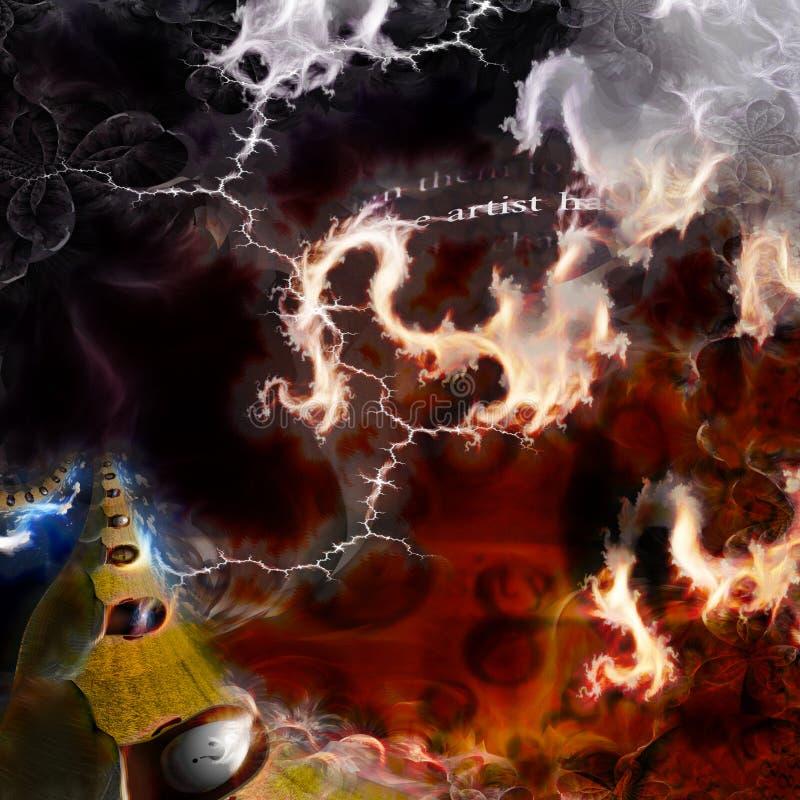 Símbolo eterno abstracto artístico ilustración del vector