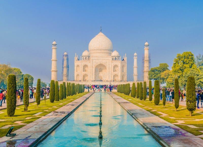 Símbolo eterno del amor - Taj Mahal fotos de archivo