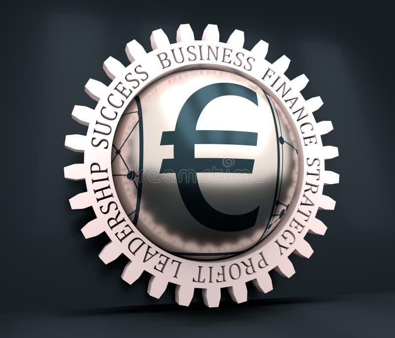 Símbolo euro del dinero ilustración del vector