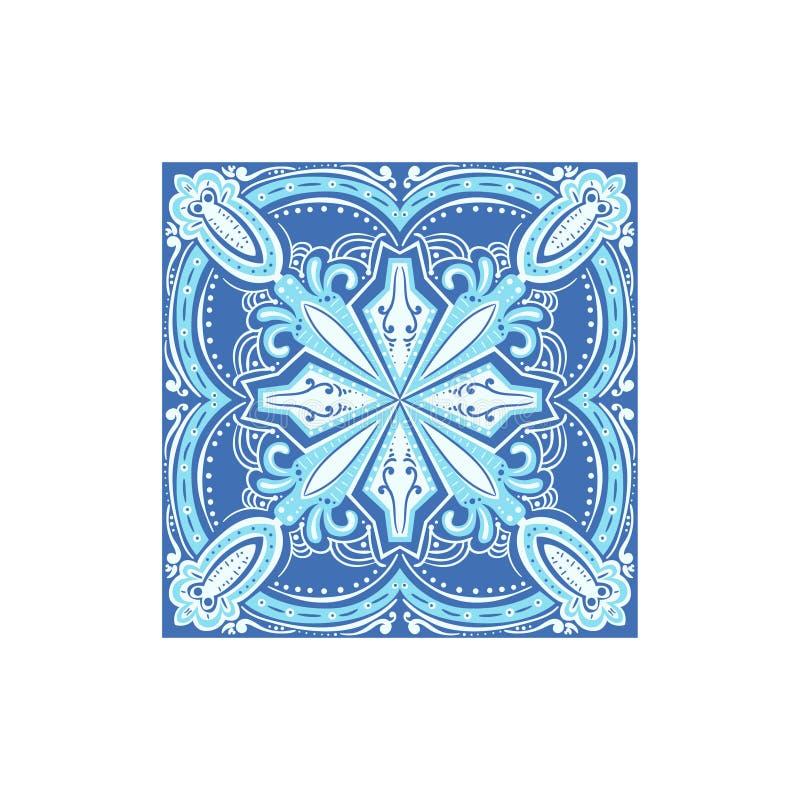 símbolo famoso Lata-esmaltado del portugués de la teja de Azulejo stock de ilustración