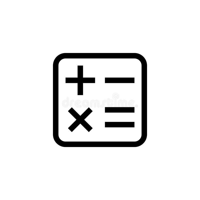 Símbolo financiero de la calculadora del diseño del icono de la oficina línea limpia simple ejemplo profesional del vector del co libre illustration