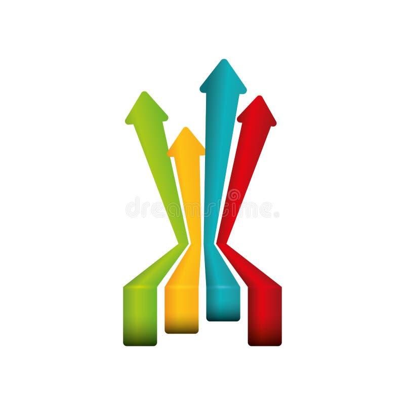 Símbolo financiero del crecimiento stock de ilustración