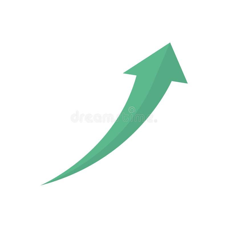 Símbolo financiero del crecimiento libre illustration