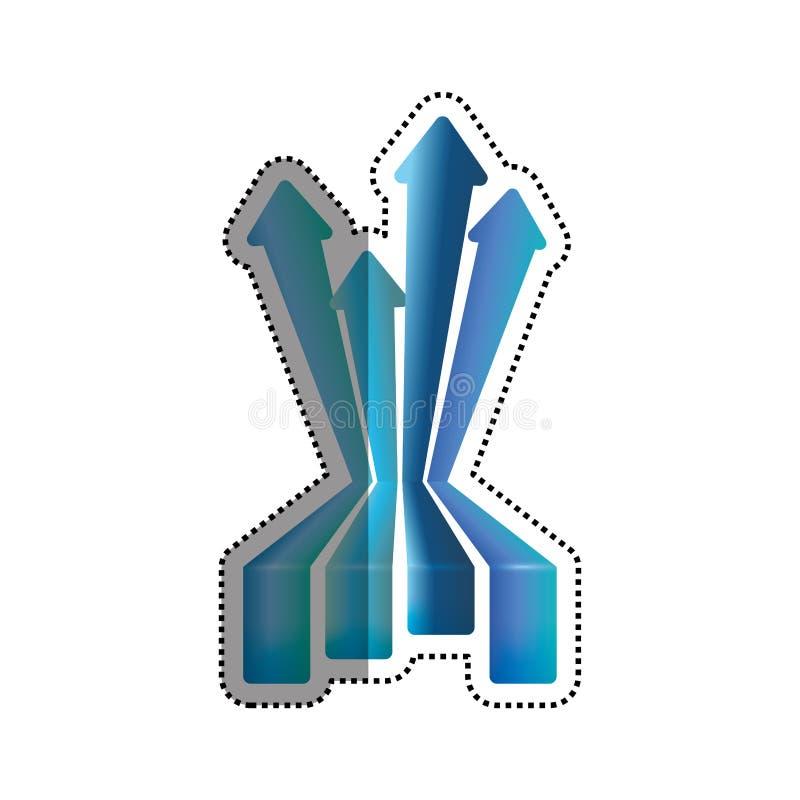 Símbolo financiero del crecimiento ilustración del vector