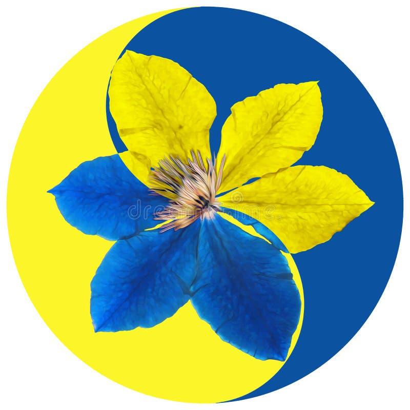 Símbolo floral de Yin Yang fotos de stock royalty free