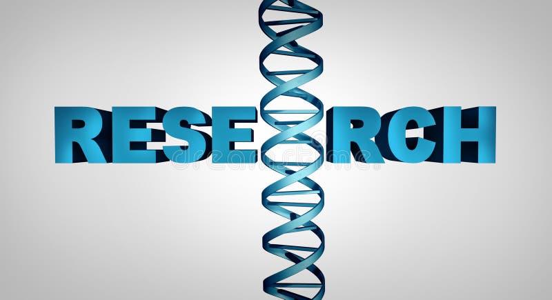 Símbolo genético da pesquisa da biotecnologia ilustração stock