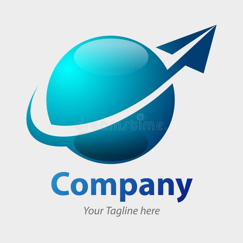 Símbolo global de la compañía ilustración del vector