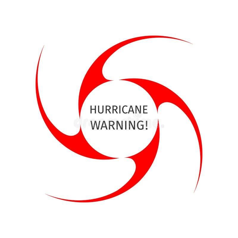 Símbolo gráfico de la advertencia del huracán libre illustration