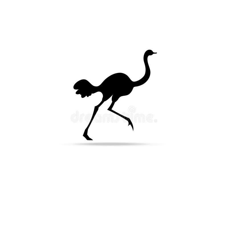Símbolo gráfico de la avestruz stock de ilustración