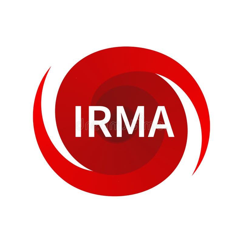 Símbolo gráfico del huracán Irma libre illustration