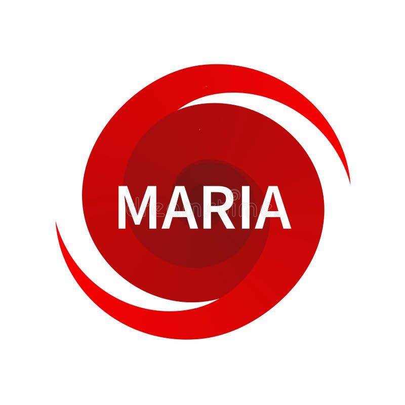 Símbolo gráfico del huracán Maria libre illustration