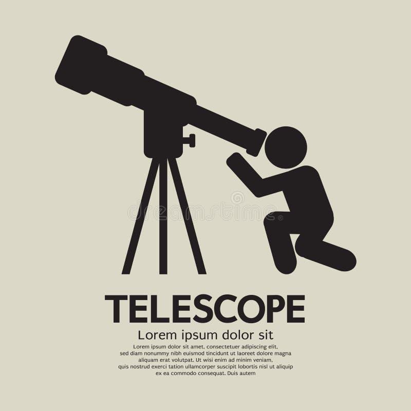 Símbolo gráfico del telescopio ilustración del vector
