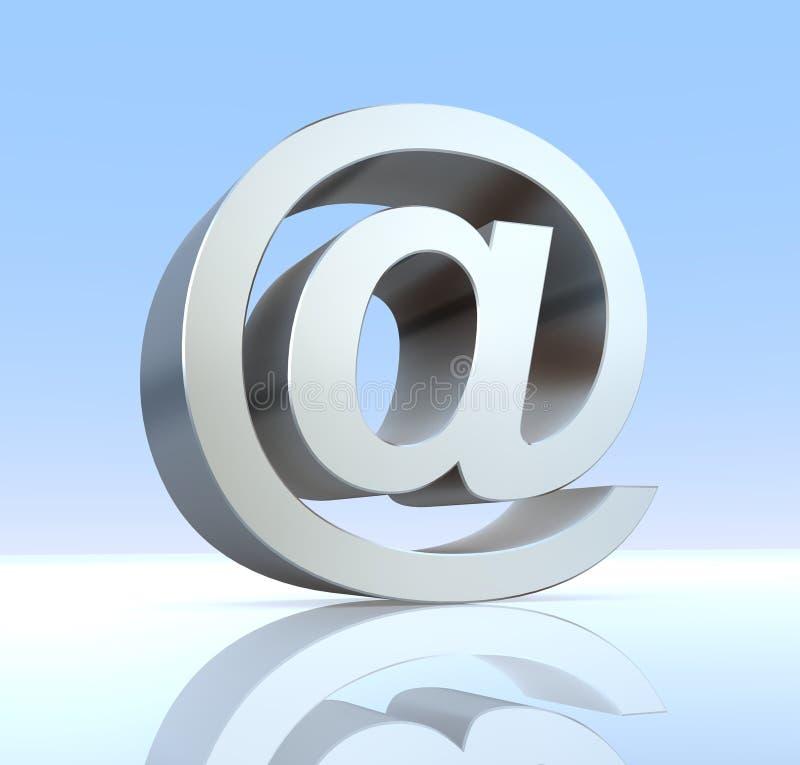 Símbolo gris del email libre illustration