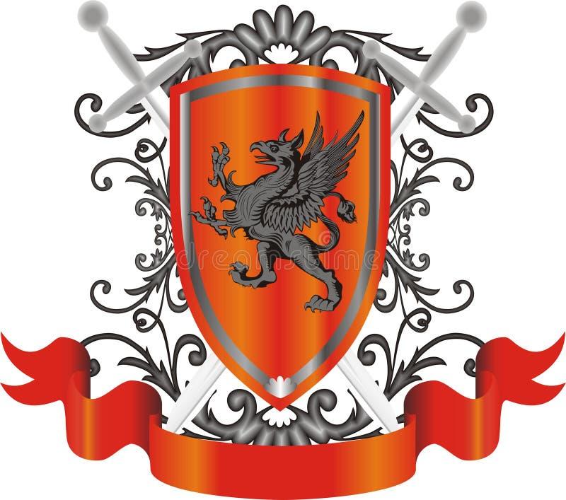 Símbolo heráldico ilustração stock