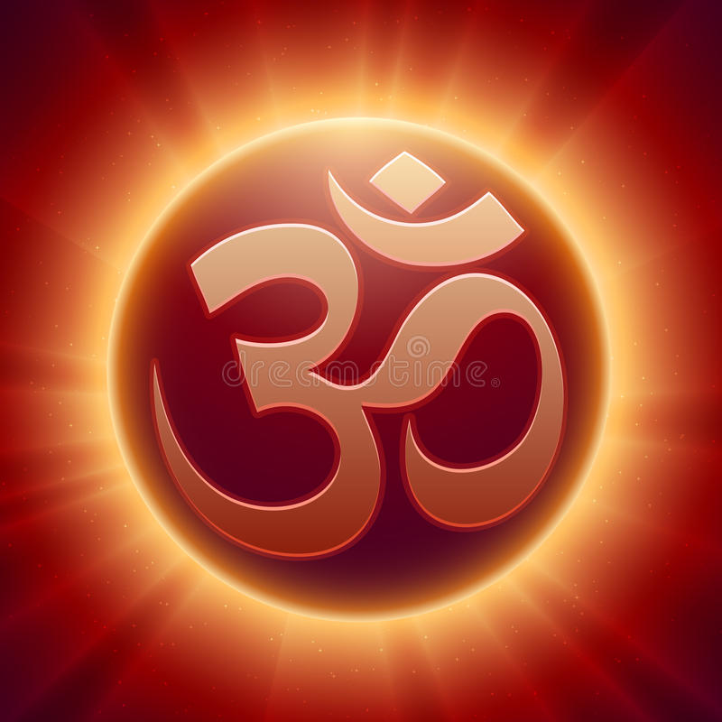 Símbolo hindú de OM del vector stock de ilustración