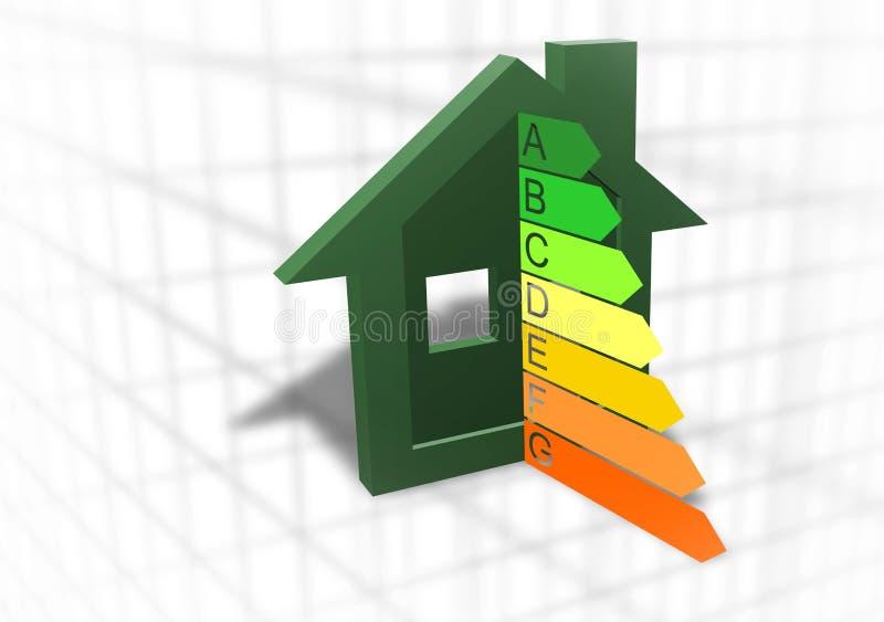Símbolo Home do uso eficaz da energia ilustração royalty free