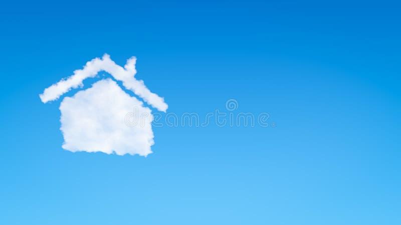 Símbolo home nuvem dada forma ilustração royalty free