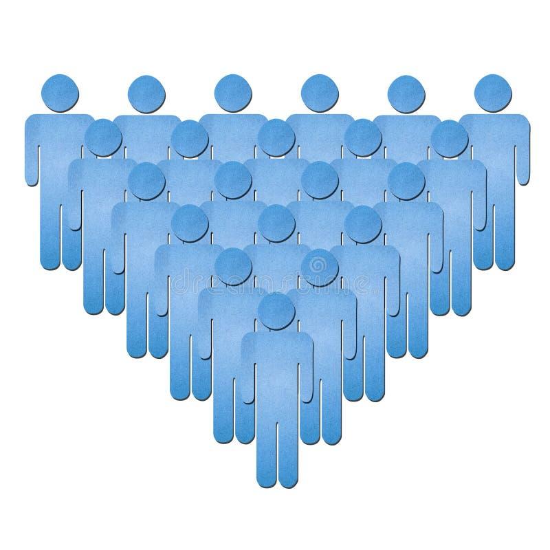 Símbolo humano da equipe no branco ilustração stock
