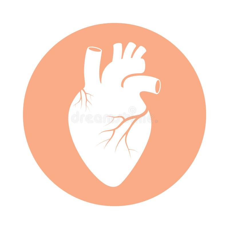Símbolo humano do coração no círculo ilustração royalty free