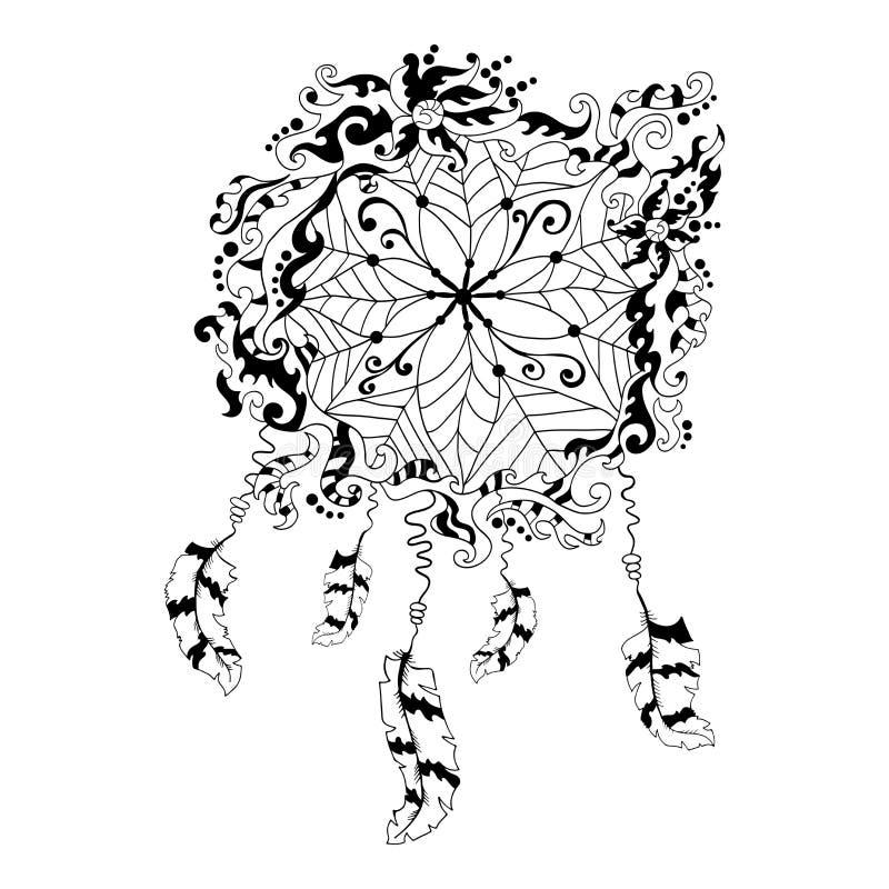 Símbolo ideal do coletor Elemento indiano étnico Pancadinha do nativo americano ilustração royalty free
