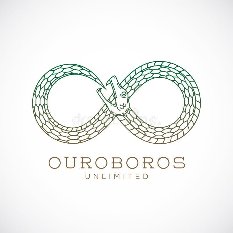 Símbolo infinito de la serpiente de Ouroboros del vector abstracto libre illustration