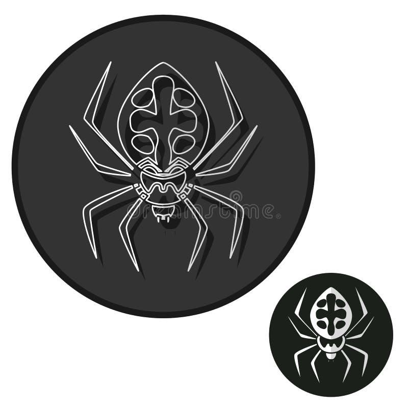 Símbolo isolado ícone do sinal da aranha e estilo liso para o app, a Web e o projeto digital Ilustração do vetor ilustração do vetor