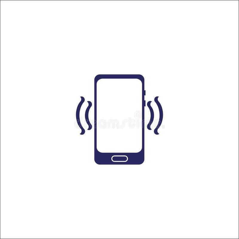 Símbolo isolado ícone do sinal do telefone e do wifi ilustração stock