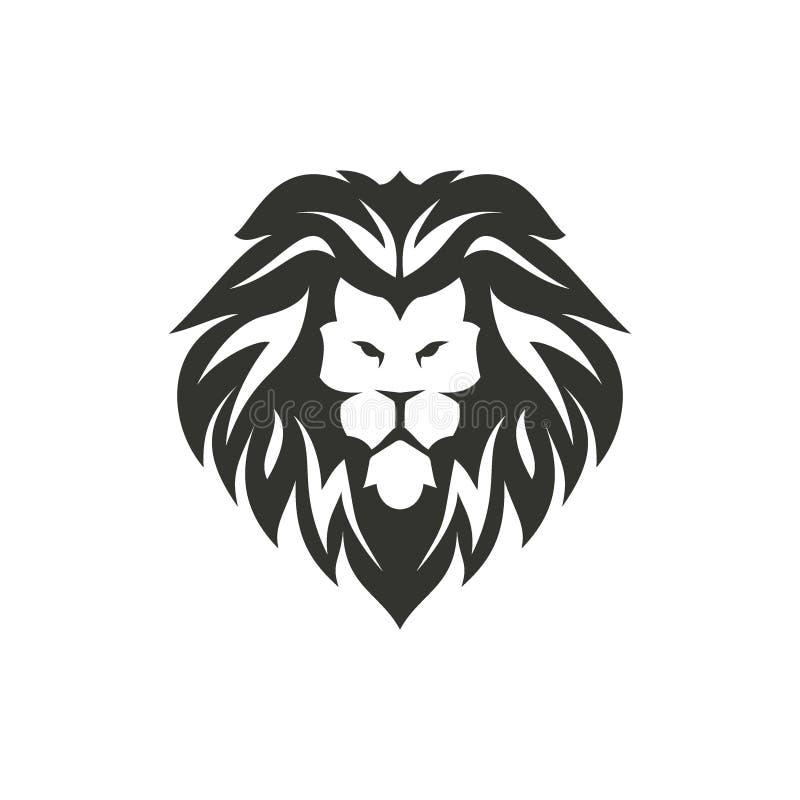 Símbolo isolado do leão no fundo branco ilustração do vetor
