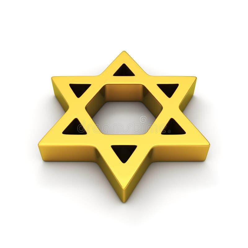 Símbolo judío ilustración del vector