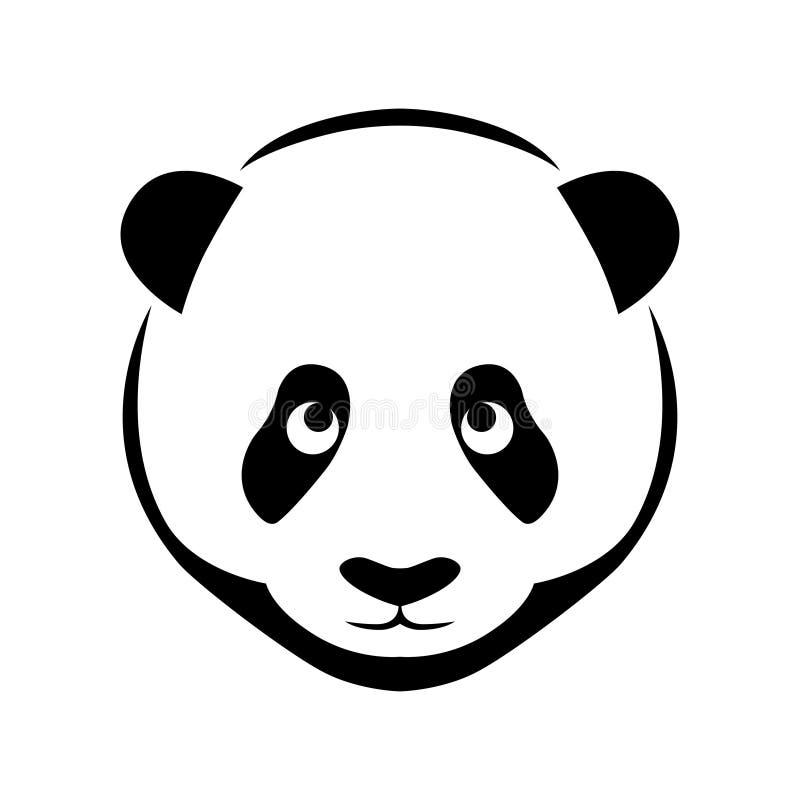 Símbolo liso da cabeça da panda ilustração royalty free