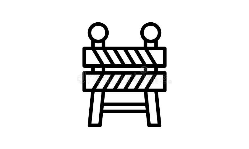 Símbolo liso da ilustração do vetor do ícone da barreira ilustração royalty free