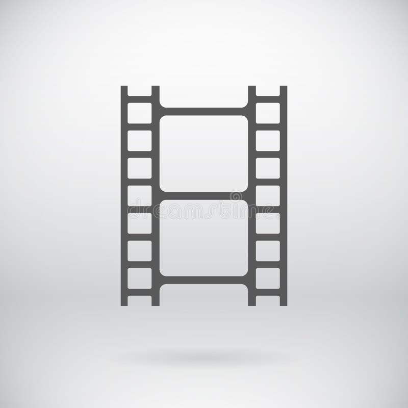 Símbolo liso do vetor do ícone da luz de tira do filme de filme ilustração stock