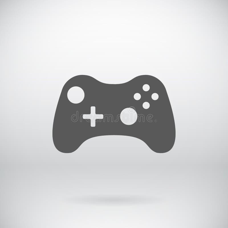 Símbolo liso do vetor do ícone de Joypad do manche de Gamepad ilustração do vetor