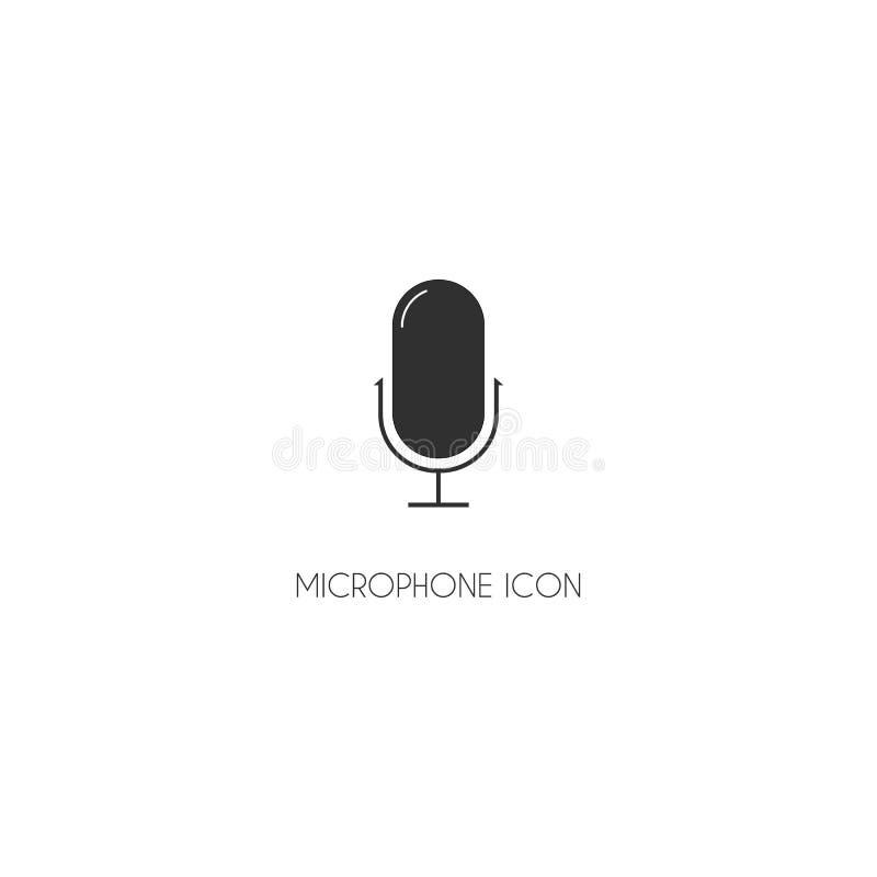 Símbolo liso EPS10 da Web do vetor do ícone do microfone ilustração do vetor