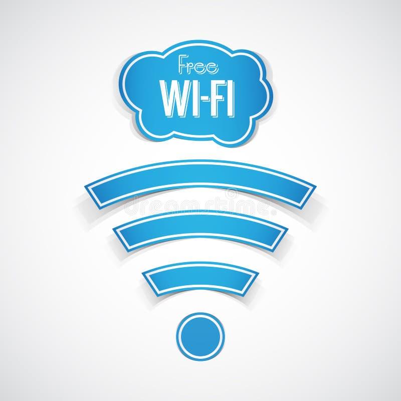 Símbolo livre do wifi ilustração do vetor