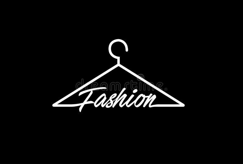Símbolo Logo Design do gancho de revestimento da forma ilustração stock